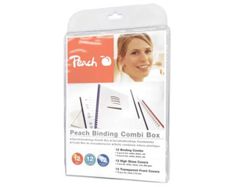 PEACH Einband-Set für Plastikbindung, 36 tlg.