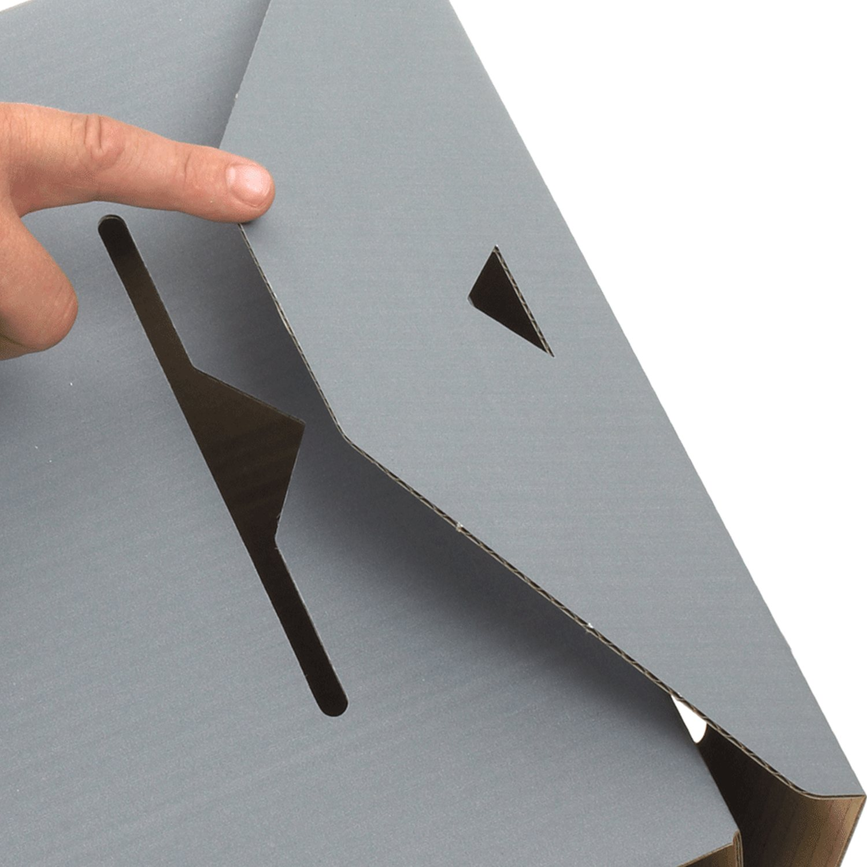ARCHIV-ABLAGEBOX zum Aufbewahren von Ordnerinhalten, Listen 334x120x275mm, grau