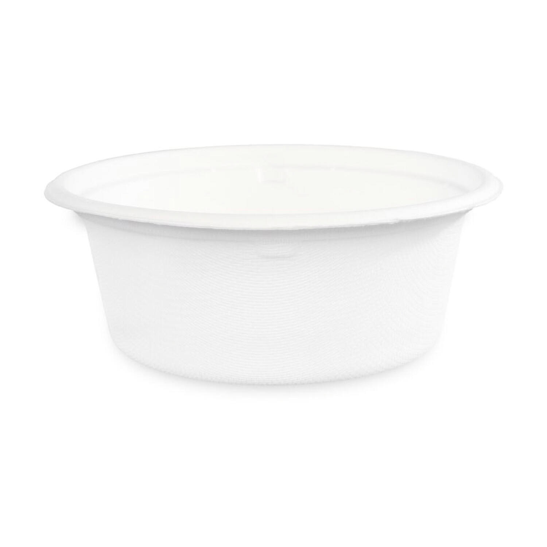 Bio Salatschale aus Zuckerrohr 400ml weiß kompostierbar, 50 Stk.