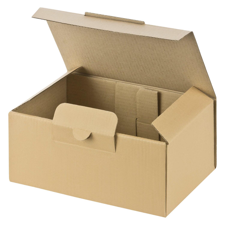 Warenpost International Versandkarton MEDIUM, extra stabil, 174x104x74mm, braun