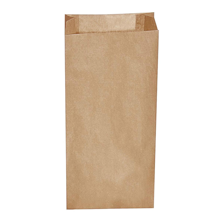 Papierfaltenbeutel Papiertüten braun 12+5 x 24 cm für ca. 1 kg Inhalt, 500 Stk.