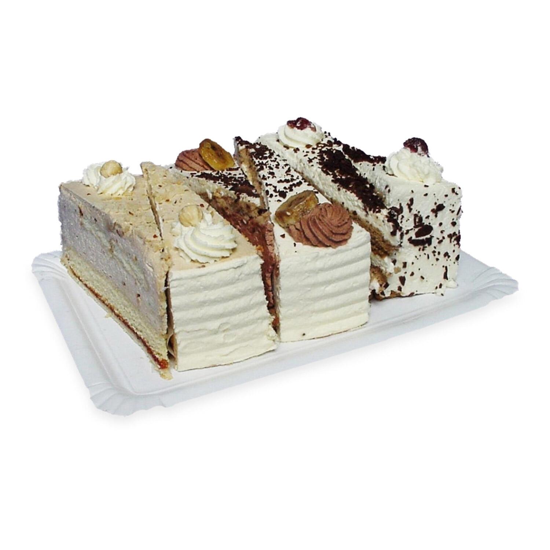 Pappteller Kuchenteller Imbissteller Teller Recycling 17 x 25 cm weiß, 250 Stk.