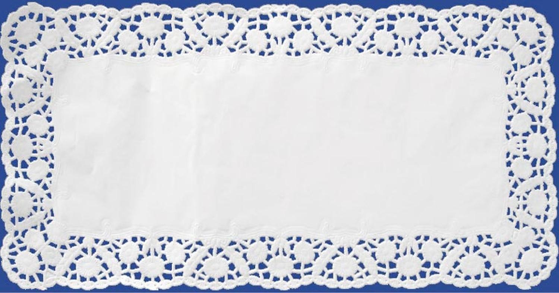 Deko-Tortenspitzen eckig, weiß, 20 x 40 cm, 100 Stk.