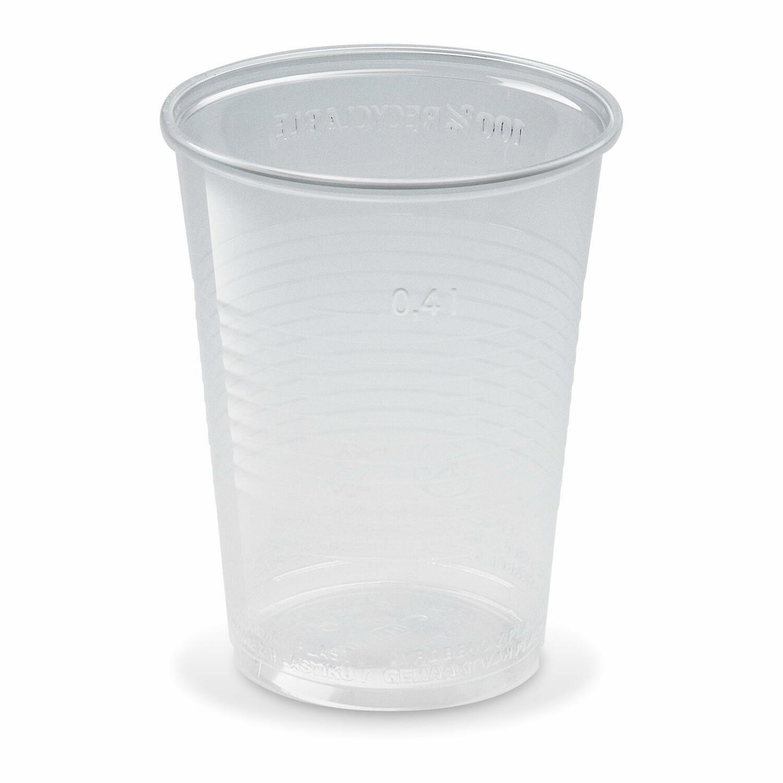 Trinkbecher transparent klar mit Eichstrich 0,4 l, 400 ml, PP,  50 Stk.