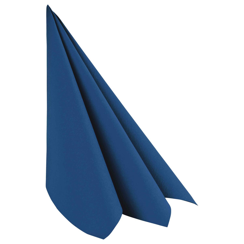 Servietten Airlaid 40x40cm 1/4 -Falz stoffähnlich hochwertig dunkelblau, 50 Stk.