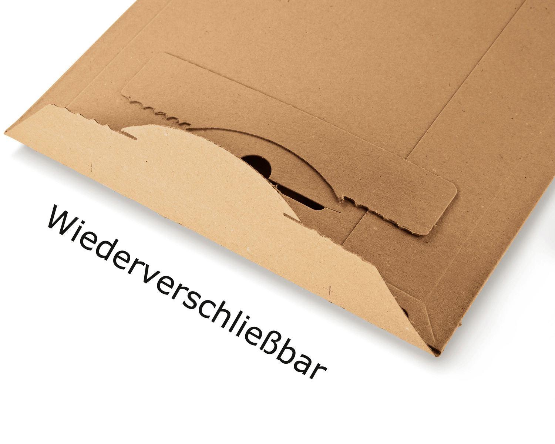 Karton-Versandtasche TP310, 175x250mm, SK mit Aufreißhilfe, Vollpappe, A5, braun
