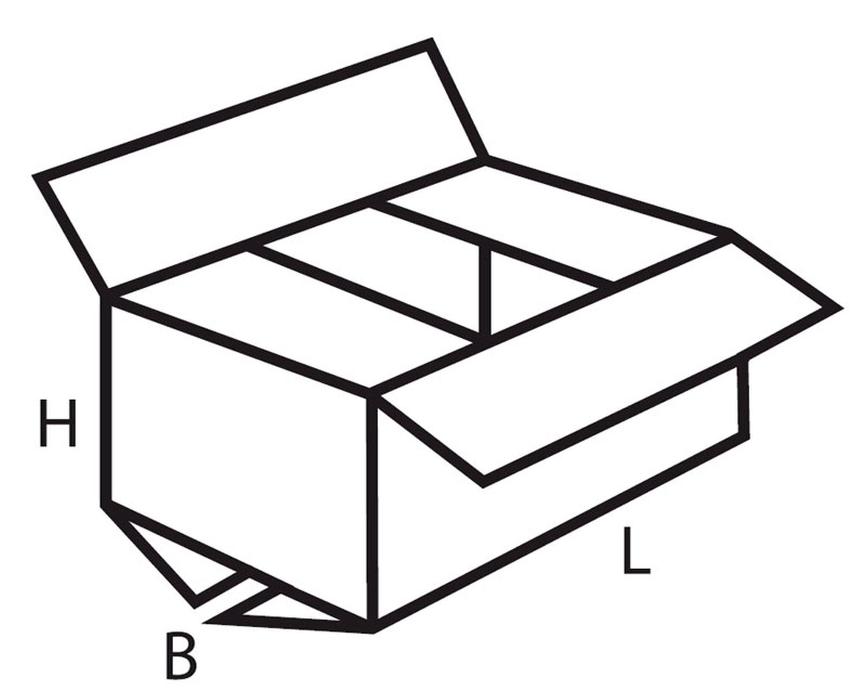 Verpackungs- und Versandkarton 400x300x300mm, 2-wellig, weiß