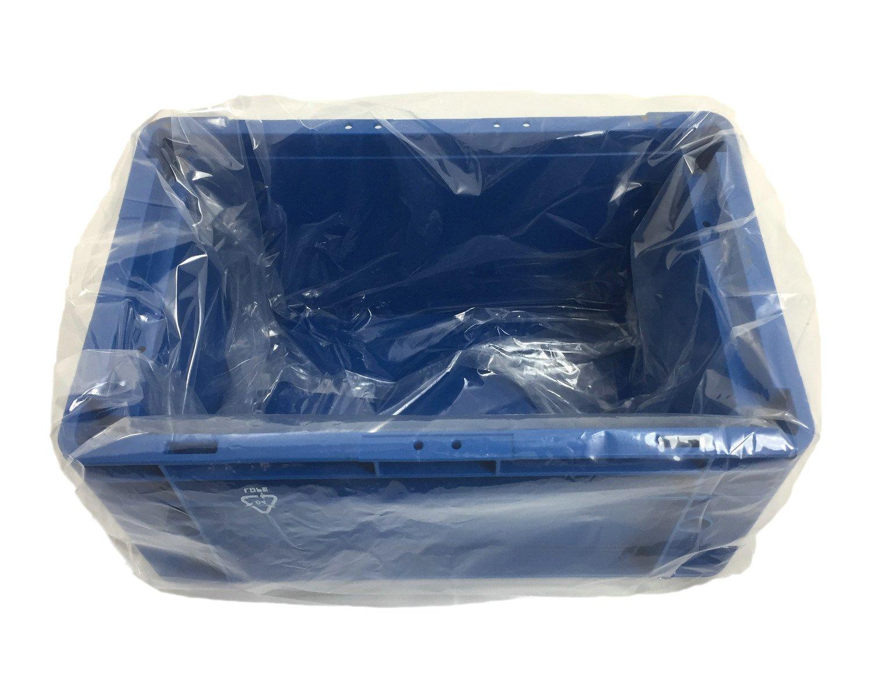 Seitenfaltensack 415x315x650mm für Kleinladungsträger KLT Eurokiste transparent