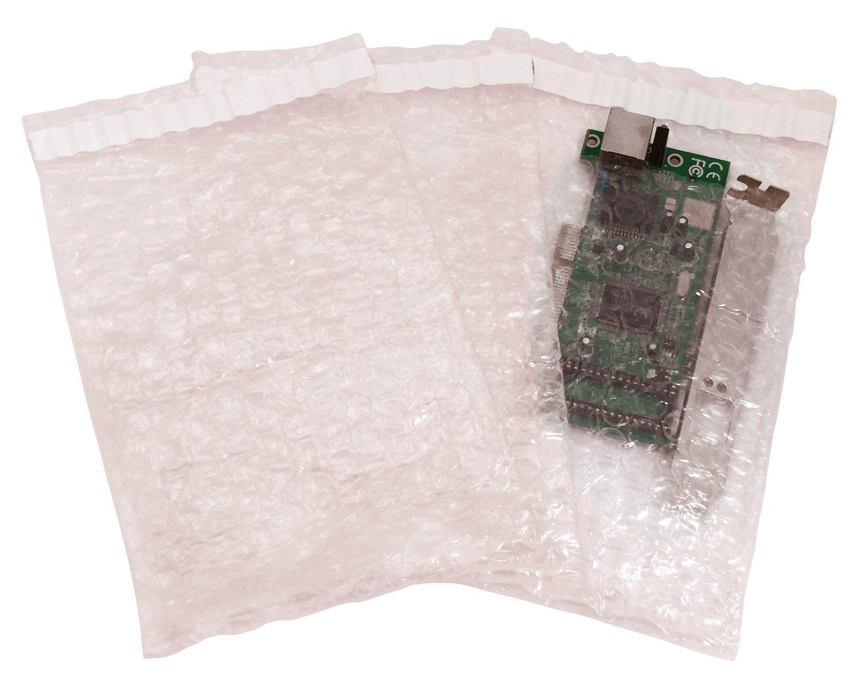 Adhäsionsverschlussbeutel aus Luftpolsterfolie antistatisch 160x120mm, 2000 Stk.