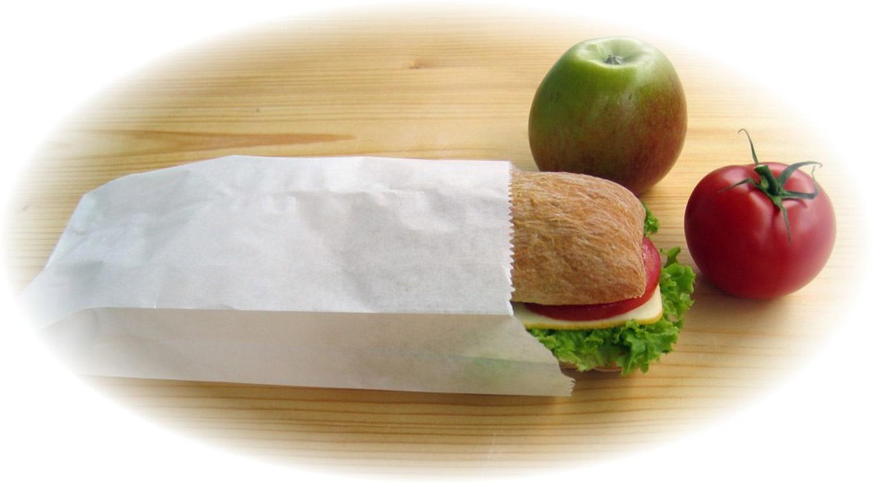 Butterbrotbeutel aus Papier 13+7 x 28 cm  für ca. 1,5kg Inhalt, 100 Stk.
