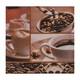 Motivservietten 3-lagig, 33 x 33 cm, Kaffee, 20 Stk.