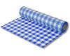 Biertischdecke mit Leinenstruktur blau/weiss, sehr stabil, 0,70 x 100m
