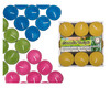 Citronella Zitronenöl Teelichter ø 37 mm in PVC-Box, farbig sortiert, 9 Stk.
