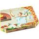 Pizzakarton aus Mikrowellpappe mit neutralem Motiv, 32 x 32 x 3 cm, 100 Stk.